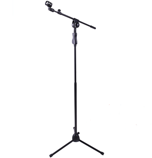 Adjustable Folding Mircrophone Stand with Telescopic Boom